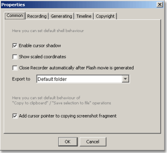 AtPresent Recorder Pro settings dialog